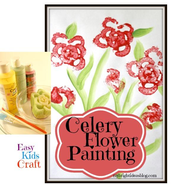 Celery Flower Painting