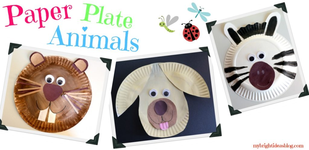 How to make animals out of paper plates. A dog zebra beaver or  sc 1 st  My Bright Ideas : dog paper plates - pezcame.com