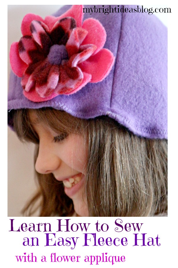 Sew an Easy Fleece Hat with a Flower Applique.