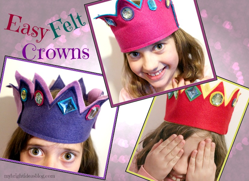 Easy to Make Felt Crowns Glue or Sew Make it yourself for under $3 mybrightideasblog.com