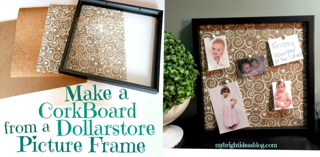 How to make a DollarStore Picture Frame into a Cork Board! Easy ...