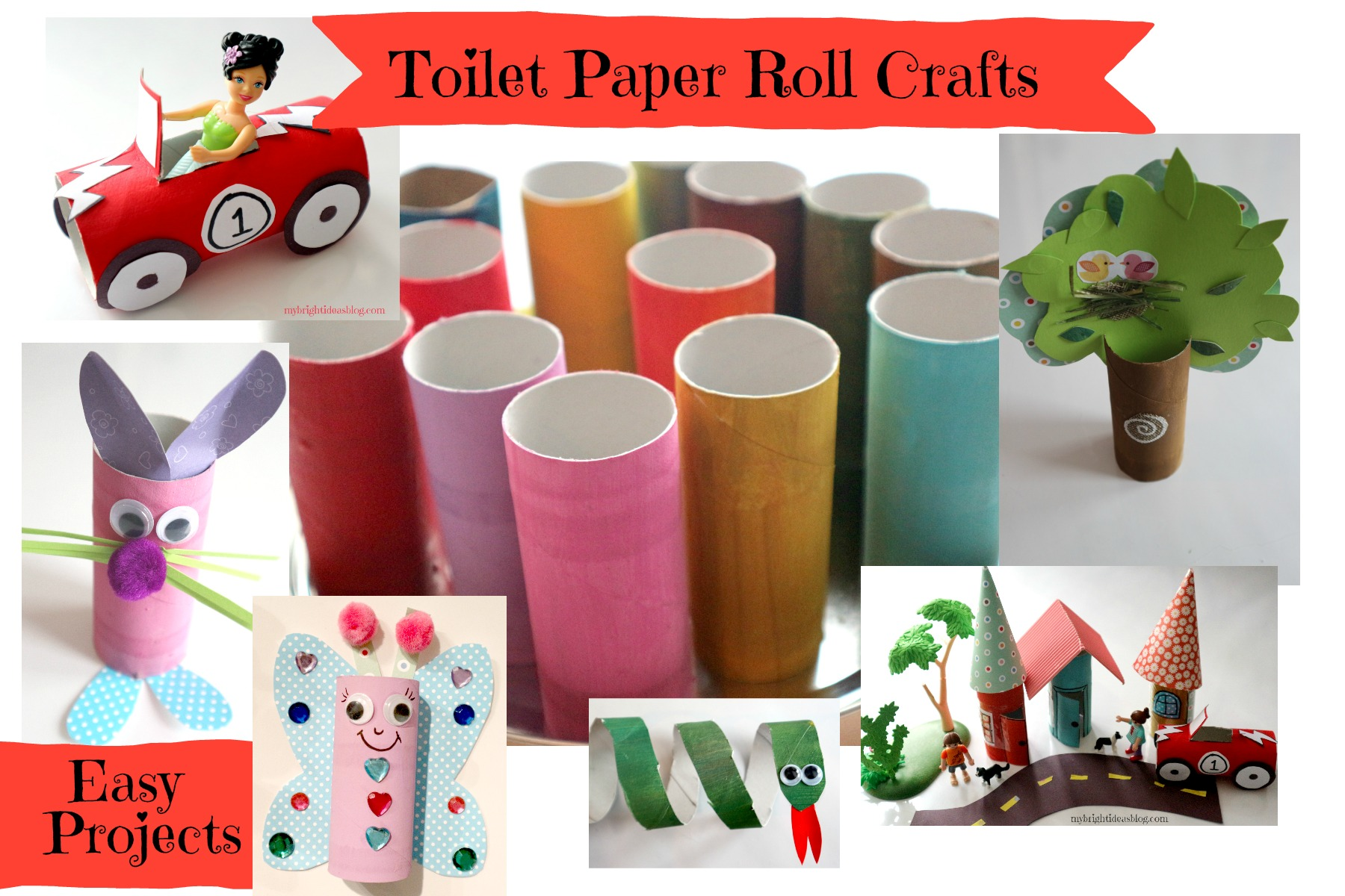 Toilet paper roll crafts use your loo roll tube for easy for Fun crafts with toilet paper rolls