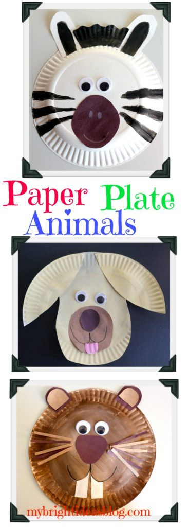 Paper Plate Animals Groundhog Zebra Dog My Bright Ideas