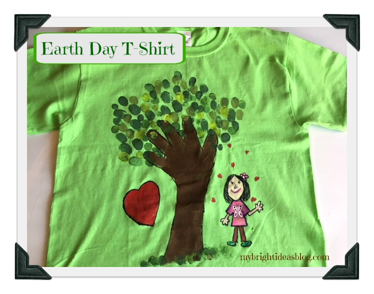 Make an Earth Day T-Shirt - Green Tree Hugger Easy Project - My