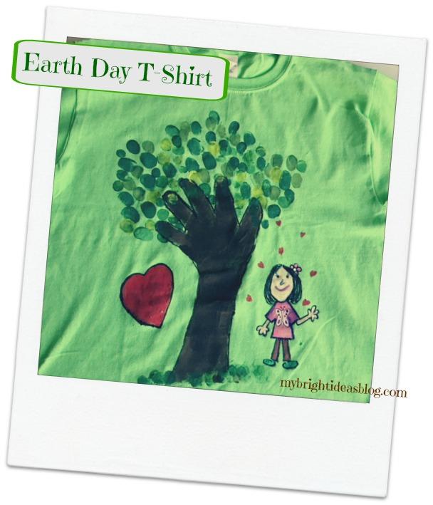 Make a Green Earth Day T-shirt mybrightideasblog.com