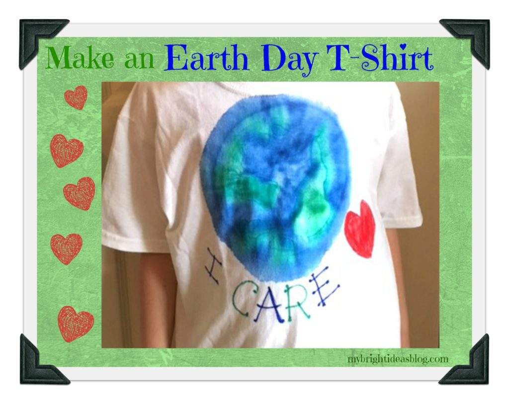 Make an Easy Earth Day T-Shirt - My Bright Ideas
