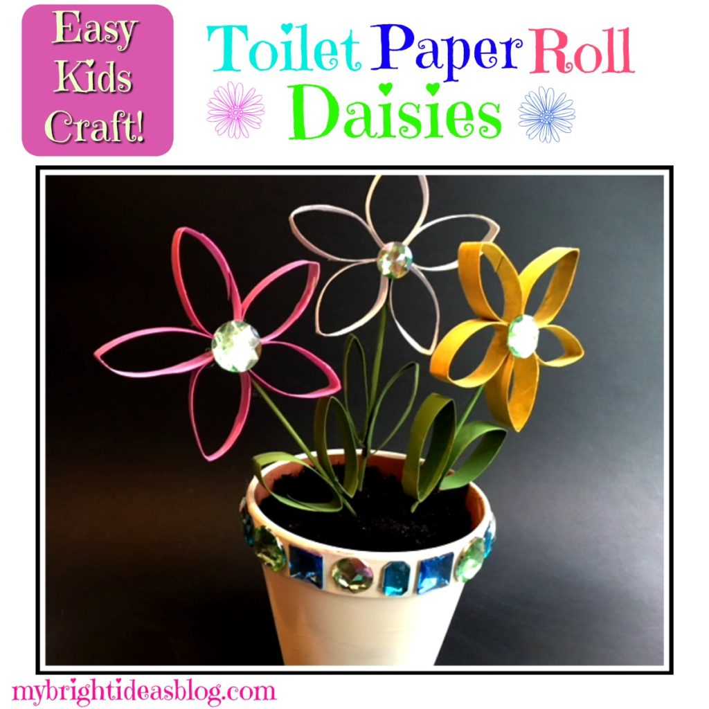 How To Make Spring Flowers Craft From Painted Toilet Paper Rolls