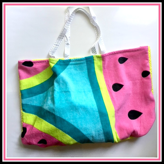 Beach Blanket Experiment: Make A Beach Bag From A Beach Towel And Hand Towel In 10