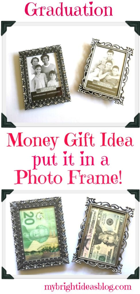 Give A Money Gift In A Picture Frame My Bright Ideas