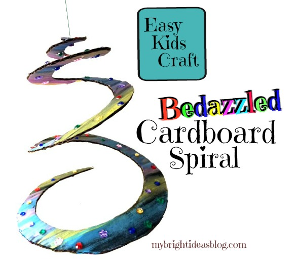 Cardboard Spiral Craft Easy Kids Project My Bright Ideas