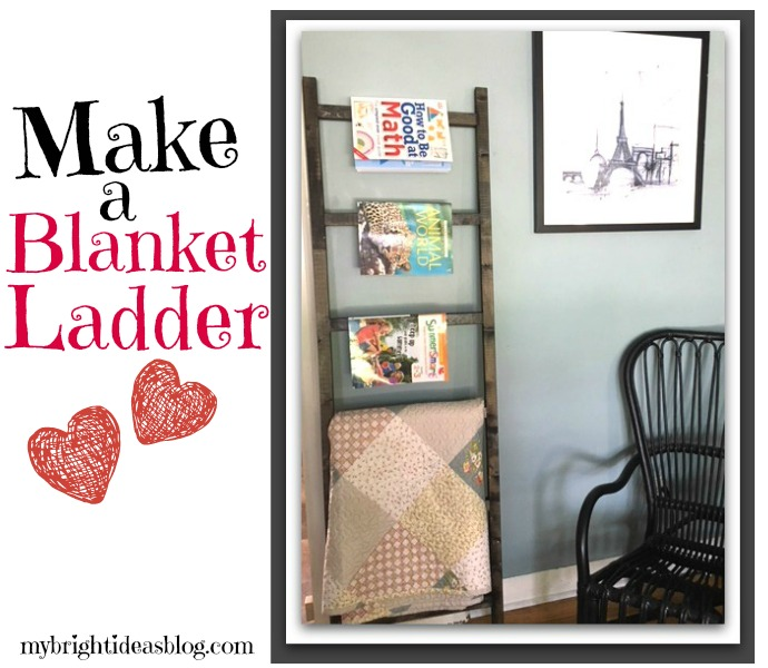 Make a blanket or quilt ladder to store and beautifully display them. This DIY will show you how easy and inexpensive it is to make this home décor item. mybrightideasblog.com