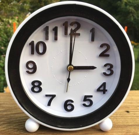 How to make a sundial  Set the alarm clock to go off every hour