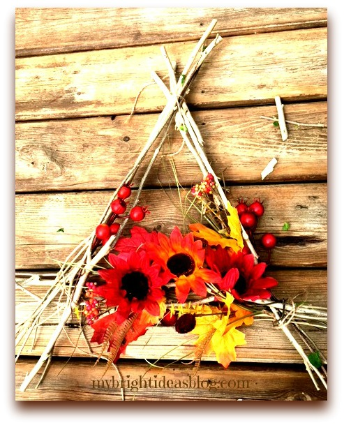 Autumn Wreath Fall decorations Easy Crafts Dollar Store Crafts
