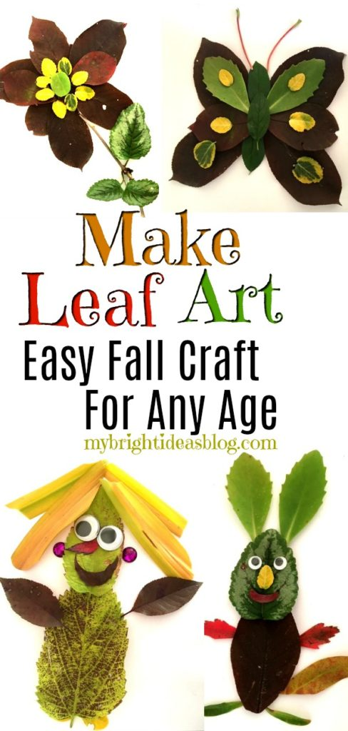 Make Leaf Art - Easy Nature Project! - My Bright Ideas