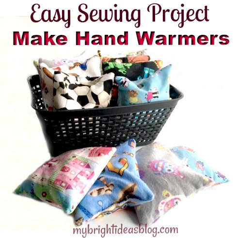 How to make a hand warmer for your cozy winter mittens. Also great for cold packs for kids bruises. mybrightideasblog.com