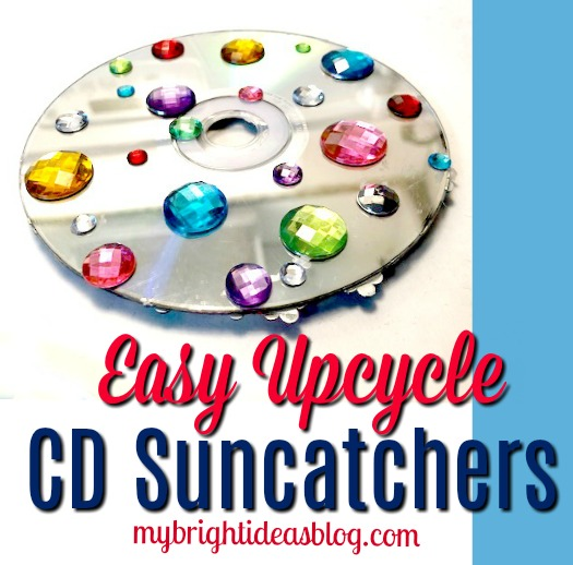 Reuse and Upcycle old CD's and turn them into window ornaments and suncatchers. mybrightideasblog.com