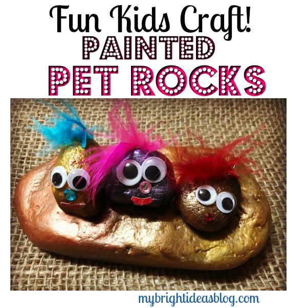 Fun Kids Craft! Make a Pet Rock! mybrightideasblog.com