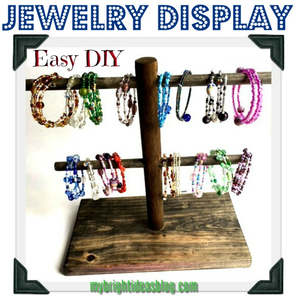 Make an easy jewelry display stand in just a few steps! mybrightideasblog.com
