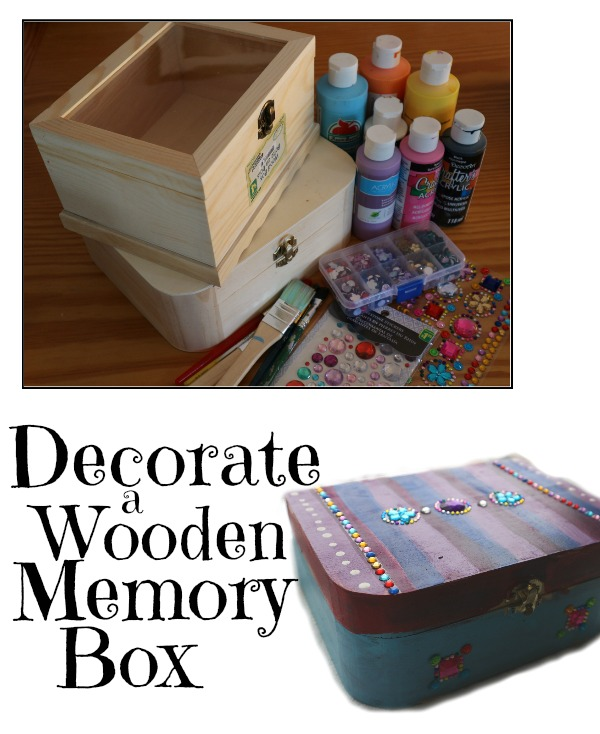 memory box craft ideas decorating wooden memory or jewellry boxes easy craft 4911