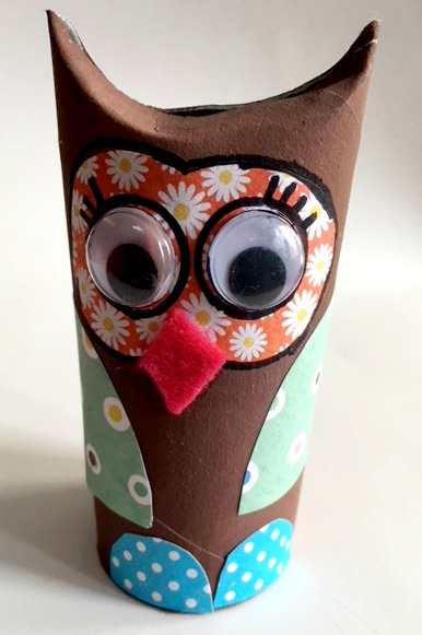 How to make PAPER OWL | DIY toilet paper roll craft ideas - YouTube | 581x386