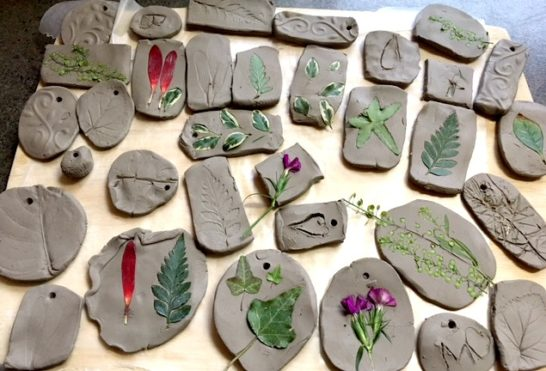 Pressed Plants Into Clay Mybrightideablog Com My Bright